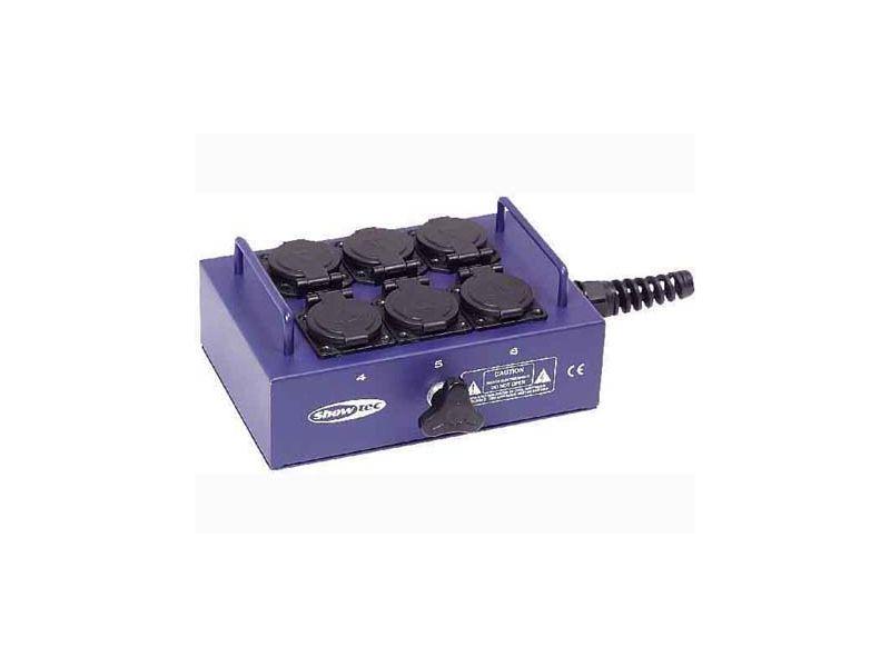 Showtec BO-6-PG Powerbox mit 6 Schutzkontakt für Kabelanschluss