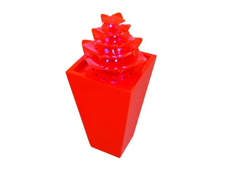 """Europalms Brunnen """"Pagoda"""" hochglanz orange mit LEDs 72cm"""