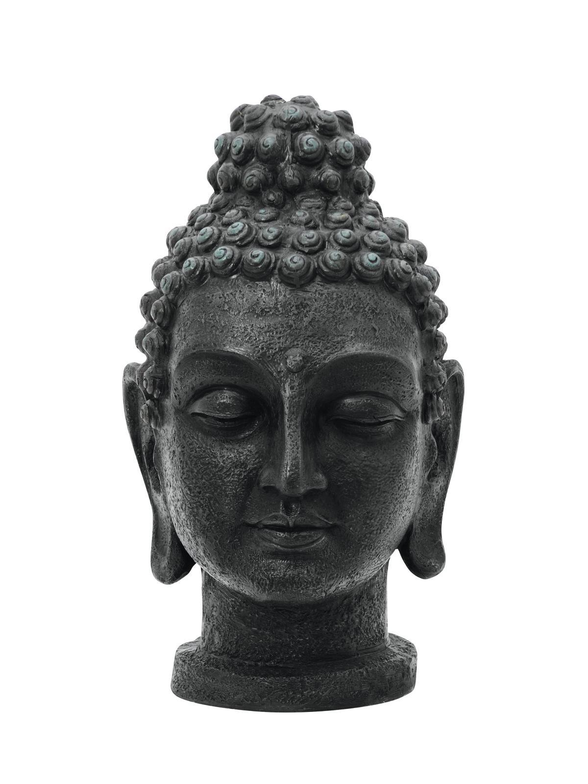 Europalms Buddhakopf, antik-schwarz, 75cm