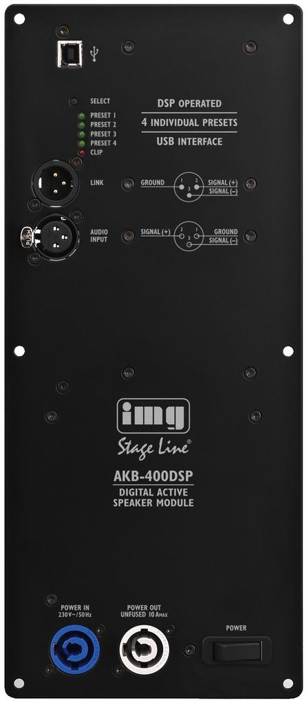 Monacor Digital-Verstaerker-Modul/DSP AKB-400DSP