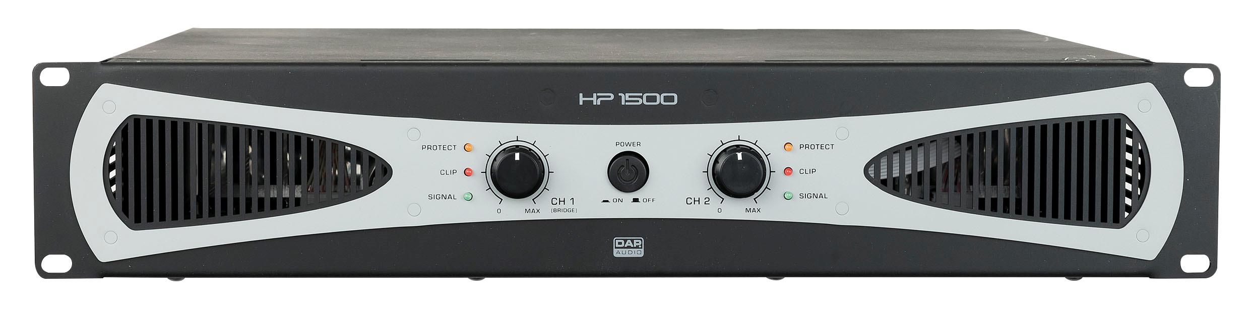 DAP HP-1500 2U 2X750w Amplifier