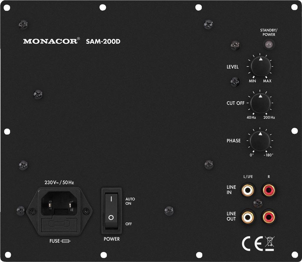 Monacor Digital-Verstaerker-Modul SAM-200D