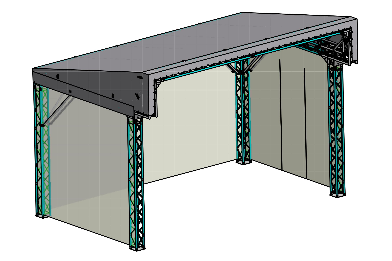 Global Truss PITCH ROOF 6x4 meter, Bühnendach, Pultdach