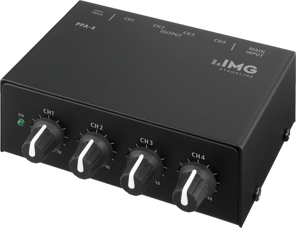IMG STAGE LINE Kopfhoererverstaerker PPA-4