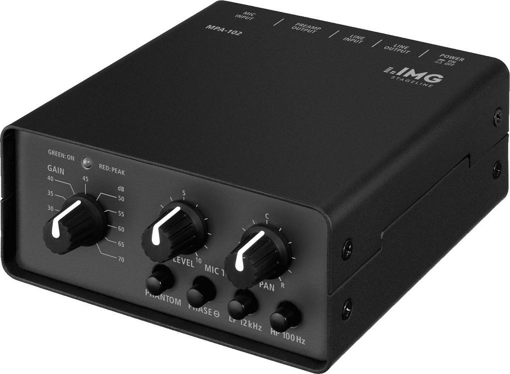IMG STAGE LINE Mikrofonvorverstaerker MPA-102