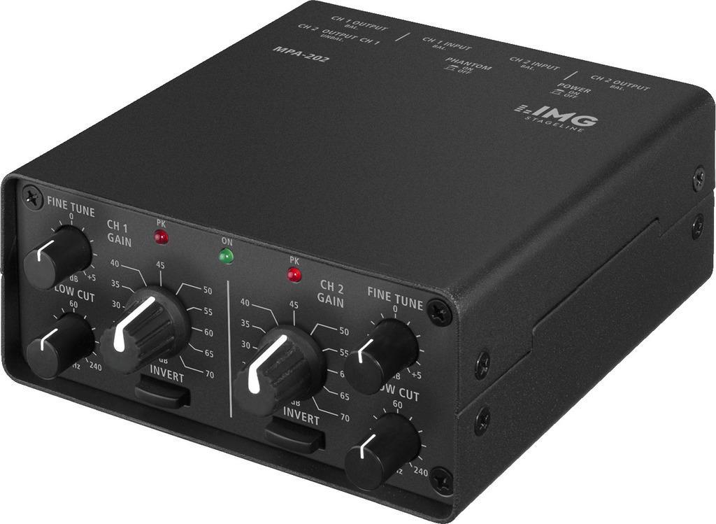 IMG STAGE LINE Mikrofonvorverstaerker MPA-202