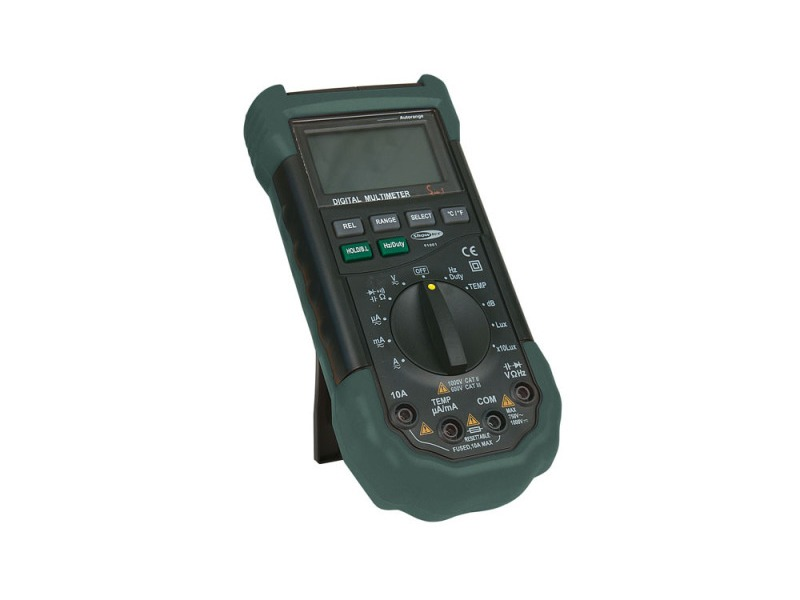 Showtec 5 In 1 Autorange Digital Multimeter, Strom, Temp, dB, Lux, Luftfeuchtigkeit