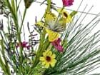 EUROPALMS Wildblumenzweig, künstlich,  pink